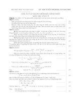 ĐÁP ÁN VÀ THANG ĐIỂM CHÍNH THỨC MÔN VẬT LÝ KHỐ A NĂM 2002 pdf