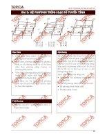 Toán cao cấp 2- Bài 3: Hệ phương trình đại số tuyến tính docx