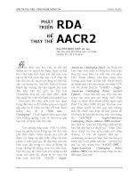 PHÁT TRIỂN RDA ĐỂ THAY THẾ AACR2 pps