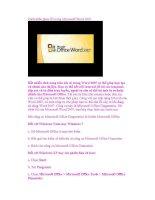 Cách khắc phục lỗi trong Microsoft Word 2007 pptx