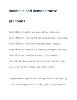 Indefinite and demonstrative pronouns ppsx