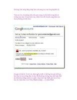 Sử dụng tính năng đăng nhập bảo mật nâng cao của Google(phần II) pptx