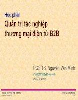 Quản trị tác nghiệp thương mại điện tử B2B ppsx