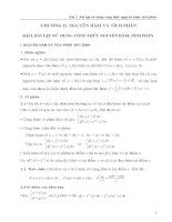 Chương 2: Nguyên hàm và tích phân - Bài 1 : Bài tập sử dụng công thức nguyên hàm, tích phân ppsx