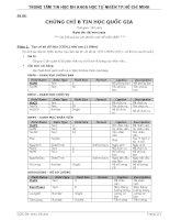 đề thi chứng chỉ b tin học quốc gia - đề mẫu 6