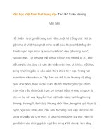 Văn học Việt Nam thời trung đại- Thơ Hồ Xuân Hương pdf