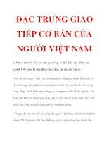 ĐẶC TRƯNG GIAO TIẾP CƠ BẢN CỦA NGƯỜI VIỆT NAM doc