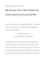Ôn thi đại học môn văn – Cảm nhận về đoạn thơ tả bức tranh tứ bình của Việt Bắc pdf