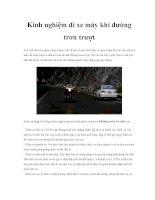 Kinh nghiệm đi xe máy khi đường trơn trượt pptx