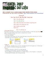 TỰ HỌC EXCEL 2007 - THAO TÁC DỮ LIỆU pot