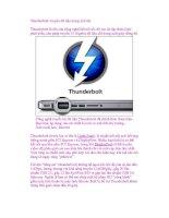 Thunderbolt: truyền dữ liệu trong tích tắc pot