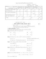 Đề Thi Học Kỳ 1(Toán 9)
