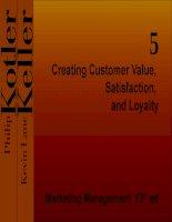Tạo ra giá trị khách hàng - Sự hài lòng, và trung thành Quản lý tiếp thị pps