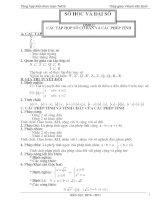 Tổng hợp kiến thức toán THCS