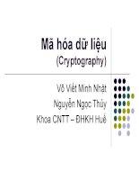 mã hóa dữ liệu (cryptography)