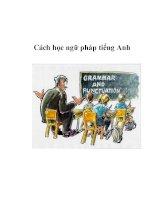 Cách học ngữ pháp tiếng Anh doc