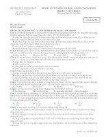ĐỀ CHÍNH THỨC MÔN VẬT LÝ KHỐI A NĂM 2007 - MÃ ĐỀ 593 potx