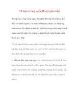 12 mẹo trong nghệ thuật giao tiếp docx