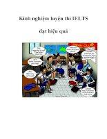 Kinh nghiệm luyện thi IELTS đạt hiệu quả potx