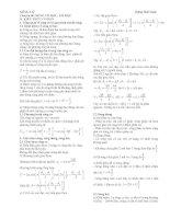 Chuyên đề vật lý 12: Sóng cơ học docx