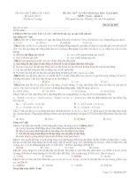 15 ĐỀ THI THỬ MÔN VẬT LÝ - ĐỀ SỐ 1 pdf