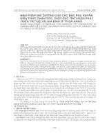 BỒI DƯỠNG CHO CÁC BẬC PHỤ HUYNH KIẾN THỨC CHĂM SÓC, GIÁO DỤC TRẺ CHẬM PHÁT TRIỂN TRÍ TUỆ pdf