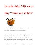 """Doanh nhân Việt và tư duy """"think out of box"""" ppsx"""