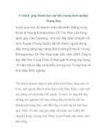 3 ''''chiêu'''' giúp thành đạt của biểu tượng khởi nghiệp Trung Hoa pps
