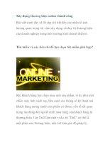 Xây dựng thương hiệu online thành công potx