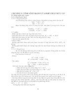 Bài Giảng Hóa Hữu Cơ 1 - Chương 5 pps