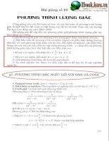 Lý thuyết phương trình lượng giác pptx