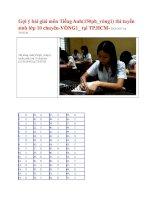Gợi ý bài giải môn Tiếng Anh(150ph_vòng1) thi tuyển sinh lớp 10 chuyên-VÒNG1_ tại TP.HCM_21-6-2007