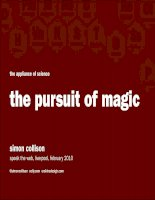 The pursuit of magic: Traditional design principles applied to Web design