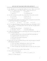 ĐỀ THI THỬ ĐẠI HỌC MÔN HÓA-ĐỀ SỐ 17 và đáp án
