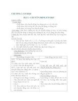 Giáo án vật lý - chương I - Cơ học - bài 1