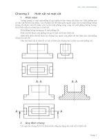 vẽ kĩ thuật 2a chương 3 - hình cắt và mặt cắt