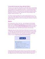 Tự tay thiết kế trang web riêng miễn phí (Phần I) ppsx