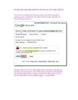 Sử dụng tính năng đăng nhập bảo mật nâng cao của Google (phần II) pps