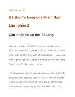 Kiến thức lớp 10 Bài thơ Tỏ Lòng của Phạm Ngũ Lão –cảm nhận về tác phẩm doc