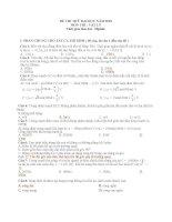 ĐỀ - ĐÁP ÁN LUYỆN THI CẤP TỐC ĐH MÔN LÝ 2010 SỐ 2