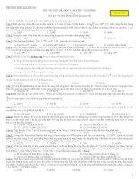 Đề thi thử ĐH - Trường Hà Trung Thanh hoá