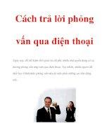 Cách trả lời phỏng vấn qua điện thoại pdf