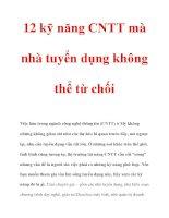 12 kỹ năng CNTT mà nhà tuyển dụng không thể từ chối pot