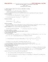 Tuyển tập một số đề luyện thi đại học pdf