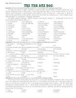 Đề thi thử cao đẳng, đại học môn tiếng anh - Đề số 1 pdf