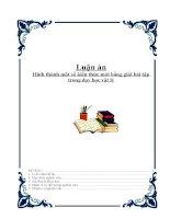 Luận án : Hình thành một số kiến thức mới bằng giải bài tập trong dạy học vật lý docx