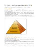 Tài liệu công nghệ thông tin - Các nguyên lý cơ bản trong thiết kế HĐT pptx