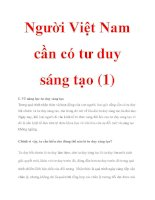 Người Việt Nam cần có tư duy sáng tạo (1) pdf