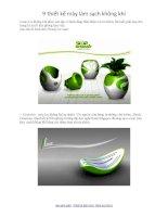 9 thiết kế mày làm sạch không khí pptx