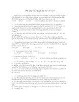 90 câu hỏi trắc nghiệm hoá vô cơ